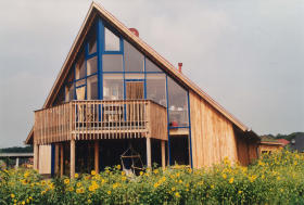 Holzhaus bau
